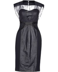 Catherine Deane Black Knee-Length Dress - Lyst