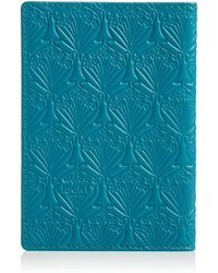Liberty - Teal Iphis Leather Passport Cover - Lyst