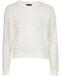Topshop Checked Sweat - Lyst