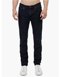 Acne Studios Blue-Black 'Ace' Super-Slim Jeans black - Lyst