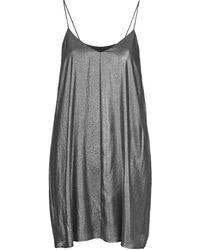 Topshop Pleated Slip Dress - Lyst