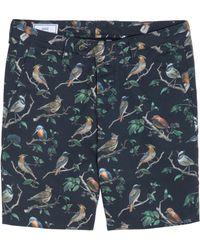 Ami Alexandre Mattiussi Blue Bird Shorts - Lyst