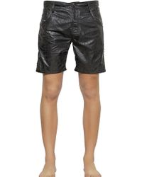 Diesel Studded Coated Nylon Swimming Shorts - Lyst