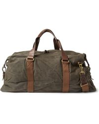 J.Crew - Abingdon Waxed Cotton-canvas And Leather Holdall Bag - Lyst