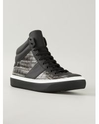Jimmy Choo Belgravia Hi-top Sneakers - Lyst