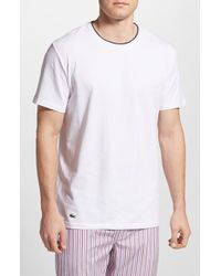 Lacoste Stretch Cotton T-Shirt - Lyst