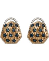 Stephen Dweck - Small Gold Galactical Button Earrings - Lyst