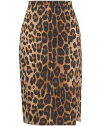 Altuzarra Fawn Leopard-Print Pencil Skirt - Lyst