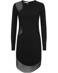 Stella McCartney Black Embroidered Dress - Lyst
