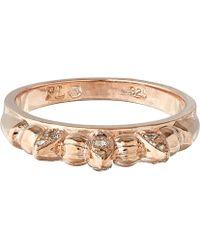 Pamela Love Rose Gold Topaz Thin Tribal Sparkle Ring - Lyst