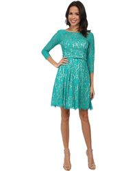 Bebe Double Layer Shirt Lace Sleeve Dress In Green Lyst