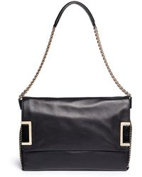 Jimmy Choo Ally Chain Strap Stud Leather Bag - Lyst