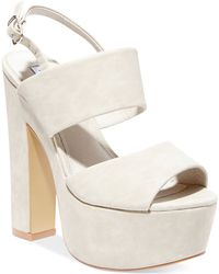 Steve Madden Women'S Wellthy Slingback Platform Sandals - Lyst