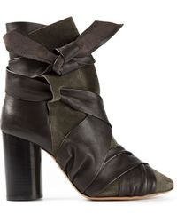 Isabel Marant Tie Fastening Ankle Boots - Lyst