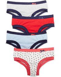 Tommy Hilfiger Lace Trim Cotton Bikini R14t028 - Lyst
