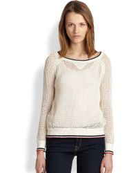 Cardigan | Agnes Openknit Linen Cotton Sweater | Lyst