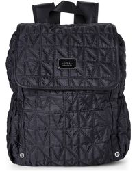 Nicole Miller Black City Life Quilted Backpack
