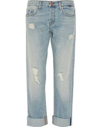 J Brand Sonny Distressed Mid-Rise Boyfriend Jeans - Lyst