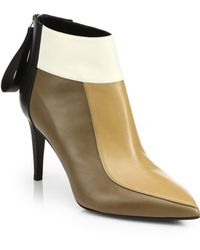 Pierre Hardy Colorblock Leather Booties - Lyst