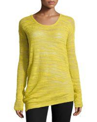 Halston Heritage Slub-knit Crewneck Sweater - Lyst