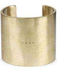Parts Of 4 Ultra Reduction Matte Brass Cuff Bracelet - Multicolor