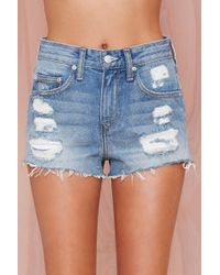 Nasty Gal Lovers and Friends Jack Distressed Cutoffs - Lyst
