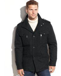 Michael Kors Michael Big And Tall Wool-Blend Multi-Pocket Field Coat - Lyst