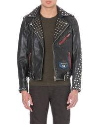 Diesel L-sneh Leather Jacket - Lyst
