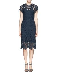 J.Crew Collection Scalloped Lace Dress - Blue