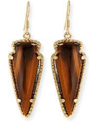Jules Smith Arrowhead Drop Earrings - Lyst