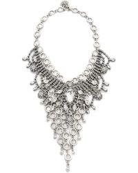 Laura Cantu - Embellished Bib Necklace - Lyst