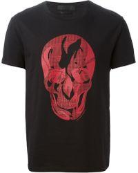 Alexander McQueen Prince Of Wales Skull Print T-Shirt - Lyst