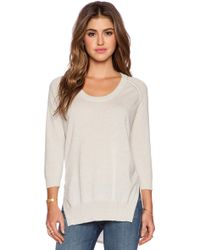 Autumn Cashmere High Low Scoop Sweater - Lyst