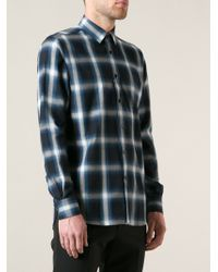 Saint Laurent Multicolor Plaid Shirt - Lyst