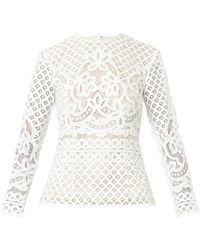 Lover Libra Lace Blouse - Lyst