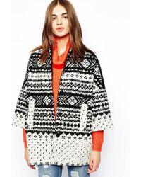 Helene Berman Snowflake Kimono Coat - Lyst