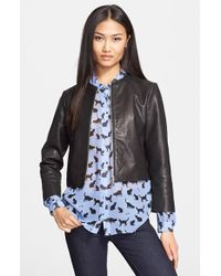 674fb0a02 Leather Jacket - Black ... Info Kate Spade's sophisticated black jacket is  cut for a close fit, creating a slimline silhouette. Crafted from ...