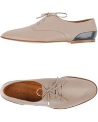 Chloé Lace-up Shoes - Gray