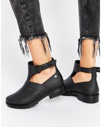 Mel by Melissa Open Ankle Boots - Black