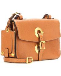 Valentino Gold-Toned Leather Shoulder Bag - Lyst