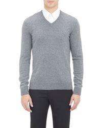 Jil Sander Knit V-Neck Sweater - Lyst