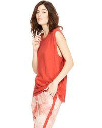 DKNY Pure Sleeveless Open Side Tee - Lyst