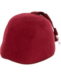 Barneys New York Cloche Hat red - Lyst