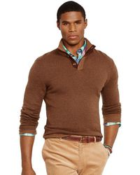 Polo Ralph Lauren Herringbone Mockneck Sweater - Lyst