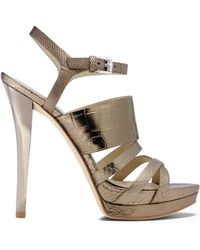 Michael Kors Nadja Crocodile Pattern-embossed Leather Sandal - Lyst