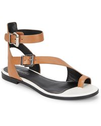 Kenneth Cole Ditmas Toe Ring Leather Sandalssand - Lyst