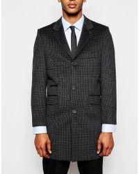 Féraud - Premium 80% Wool Dogtooth Coat - Lyst