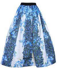 Tibi Sidewalk Floral Full Skirt - Lyst