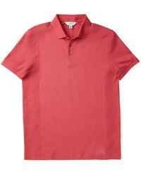 Calvin Klein Body Slim Fit Mixed Texture Cotton Polo Shirt - Lyst