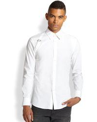 Alexander McQueen White Harness Sportshirt - Lyst